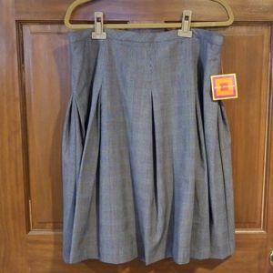 Isaac Mizrahi Plaid Pleated Lined Skirt Size 16